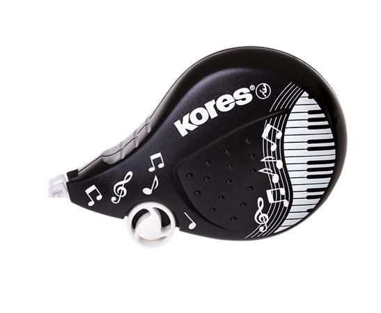 Hibajavító roller, 4,2 mm x 8 m, KORES Scooter Black&White, vegyes (IK84972)