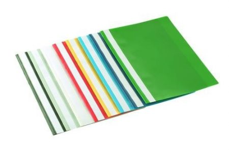 Gyorsfűző műanyag zöld