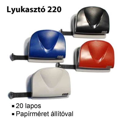 MOS 220 irodai lyukasztó kék (20 lapos)