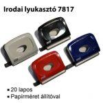 MOS 7817 IRODAI LYUKASZTÓ FEKETE (20 LAPOS)