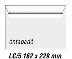 LC5 boríték, öntapadós 500 db/doboz