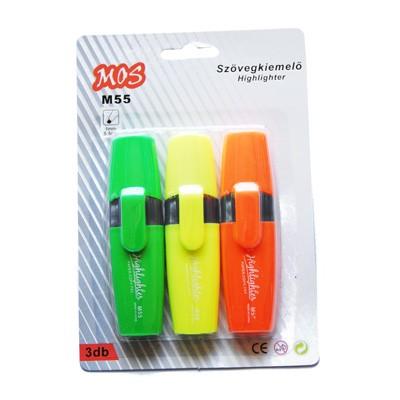 Mos M55 szövegkiemelő szett 3db/csomag 1/Z/S/N