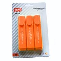 Mos M56 szövegkiemelő 3db/csomag narancs