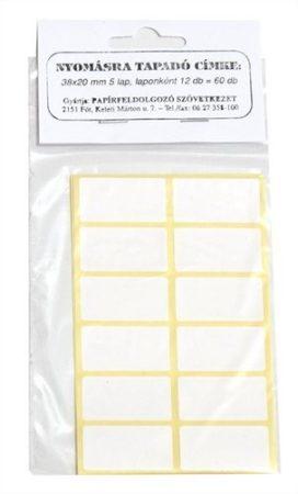 Etikett címke kézi 38x20mm 60 címke/csomag