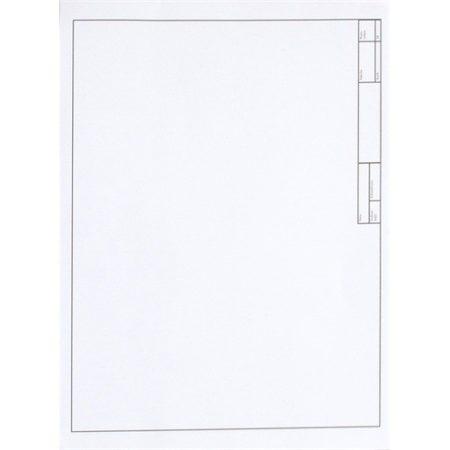 Rajzlap műszaki keretezett A/4 10 db/csomag