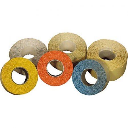 Árazószalag 25x16 perforált sárga 10 tek/csomag