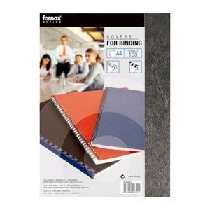 Hátlap Fornax A/4 matt fekete , 230gr bőrutánzatú nyomattal (100 ív/csomag)