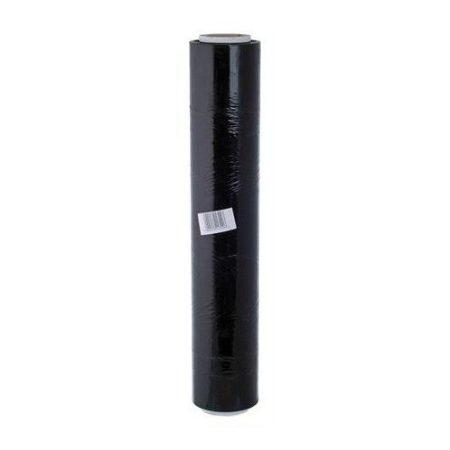 KÉZI STRETCH FÓLIA  / SZTRECCS FÓLIA fekete KB. 2,3 KG (NETTÓ SÚLY: KB 1,5KG), 23MIC, 50cm széles (jól tapad!)
