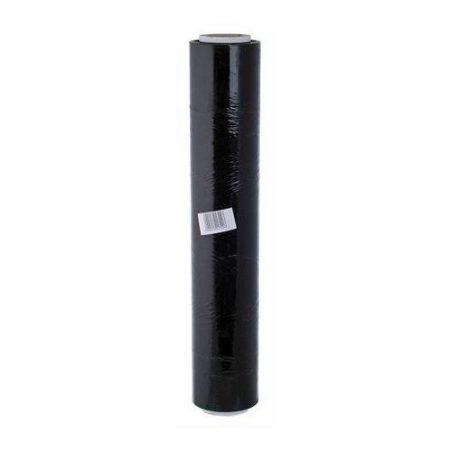 Kézi stretch fólia  / sztreccs fólia fekete kb 2,3 kg (nettó súly: kb 1,5 kg), 23 micron, 50cm széles (jól tapad!)