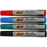 Alkoholos Filc BIC 2000 marker kerek fekete