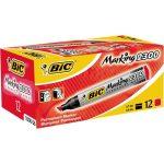 Alkoholos Filc marker BIC 2300 marker vágott piros