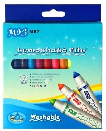 Filctoll MOS M57 készlet 12 szín/klt mosható