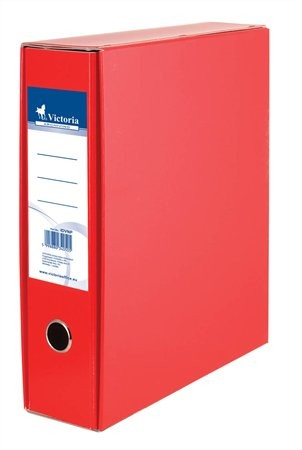 Tokos iratrendező, 75 mm, A4, karton, piros