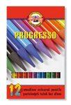 KOH-I-NOOR Progresso 8756/12 famentes Színes ceruza készlet, 12 szín/klt