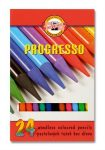 Koh-i-noor Progresso 8758/24 famentes Színes ceruza készlet, 24 szín/klt