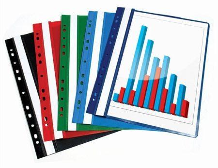 Gyorsfűző, lefűzhető, PP, A4, Victoria, zöld 20db/csomag