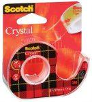 Ragasztószalag adagolón 3M Scotch Crystal, 19 mm x 7,5 m