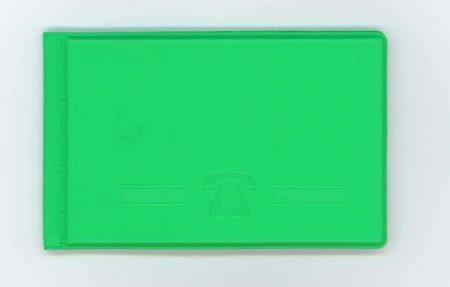 Biurfol névjegytartó zsebbe saját névjegyeknek New Colours élénkzöld
