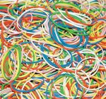 Gumigyűrű / Postázógumi, Donau, vegyes színek, 1 kg/csomag