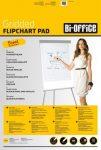 Flipchart papír Bi-Office 55g kockás 50 ív/csomag