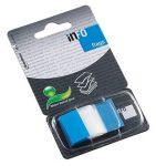 Oldaljelölő Info Notes Flag 25x43mm, műanyag, 50 lapos, áttetsző kék (772881)