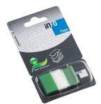 Oldaljelölő Info Notes Flag 25x43mm, műanyag, 50 lapos, áttetsző zöld (772843)