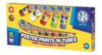 Tempera ASTRA színes műanyag tubus 30ml 12db/készlet