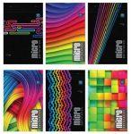 Jegyzettömb, perforált, vegyes mintákkal, A4+ 80lap Micro kockás 5db/csomag