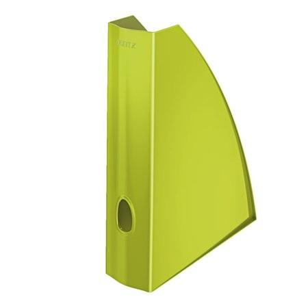 Iratpapucs, műanyag, 60 mm, elöl nyitott, Leitz Wow, metál zöld