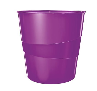 Papírkosár, 15 liter, Leitz Wow, lila