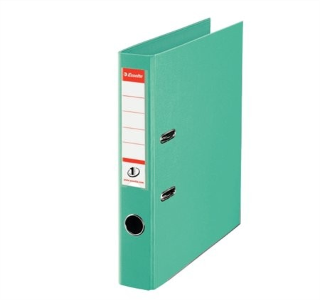 Iratrendező, 50 mm, A4, PP/PP, élvédő sínnel, Esselte Standard, mentazöld (811412)