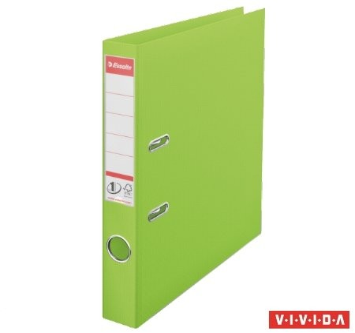 Iratrendező, 50 mm, A4, PP/PP, élvédő sínnel, Esselte Standard, Vivida zöld (624073)