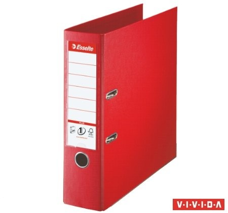 Iratrendező, 80 mm, A4, PP/PP, élvédő sínnel, Esselte Standard Plus, Vivida piros (81183)