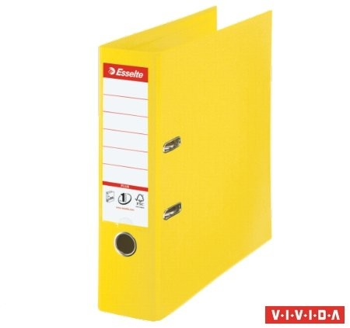 Iratrendező, 80 mm, A4, PP/PP, élvédő sínnel, Esselte Standard Plus, Vivida sárga (624076)