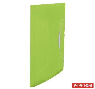 Gumis mappa, 15 mm, PP, A4, Esselte Vivida, zöld (624041)
