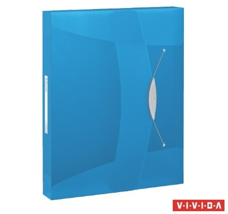 Gumis mappa, 40 mm, PP, A4, Esselte Vivida Jumbo, Vivida kék (624047)