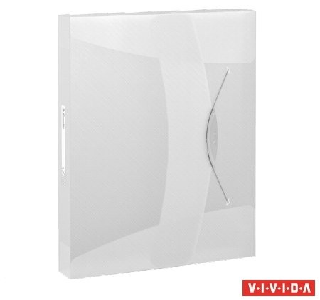 Gumis mappa, 40 mm, PP, A4, Esselte Vivida Jumbo, Vivida fehér (624050)