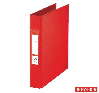 Gyűrűs könyv, 2 gyűrű, 42 mm, A5, PP/PP, Esselte Standard, Vivida piros (47683)