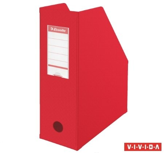 Iratpapucs, PVC/karton, 100 mm, összehajtható, Esselte, Vivida piros (56073)