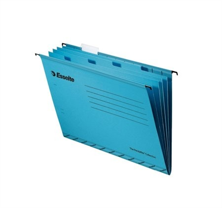 Függőmappa, újrahasznosított karton, A4, elválasztólapokkal, Esselte Classic, kék (93133) 10db/csomag