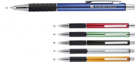 Golyóstoll Empen Blaster, aluminium test, nyomógombos, vegyes szín (A02.2382)