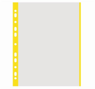 Genotherm, lefűzhető, színes szélű, A4, 40 mikron, narancsos felület, Donau, sárga 100 db/csomag