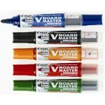 Táblafilc készlet, 2,3 mm, kúpos, tartóval és szivaccsal, PILOT V-Board Master 5 különböző szín/készlet (WBMA-VBM-S5)