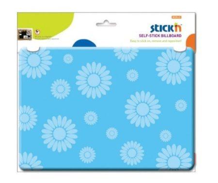 Öntapadós falitábla STICK'N (23036) A4 öntapadós szivacsos kék VIRÁG