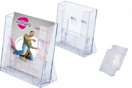 Prospektustartó Empen Envin, A5 műanyag, állítható asztali vagy fali (raktáron)