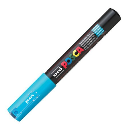 Dekormarker Uni Posca PC-1M 0.7-1 mm, kúpos, világoskék (8)