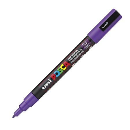 Dekormarker Uni Posca PC-3M 0.9-1.3 mm, kúpos, lila (elfogyott érkezik)