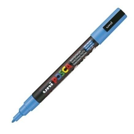 Dekormarker Uni Posca PC-3M 0.9-1.3 mm, kúpos, égszínkék (sky blue)