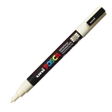 Dekormarker Uni Posca PC-3M 0.9-1.3 mm, kúpos, elefántcsont (ivory)