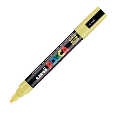 Dekormarker Uni Posca PC-5M 1.8-2.5 mm, kúpos, sárga (2)